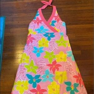 Lily Pulitzer dress mini pink floral vintage